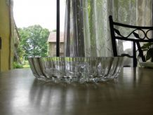 Serviteur à apéritif en verre taillé - 3 compartiments