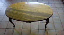 Table basse dessus marbre