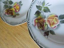 série de 6 assiettes creuses en faïence ancienne