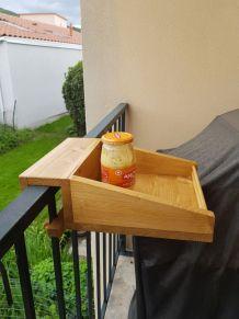 Plateaux bois pour balcon