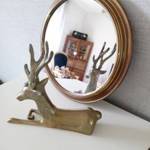 Plateau miroir en laiton