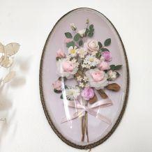 Ancien cadre bombé ovale vintage