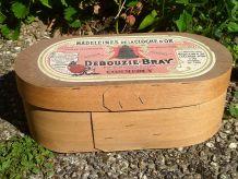 boite en bois DEBOUZIE BRAY, vintage 1960