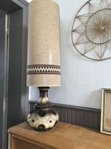 Grande lampe vintage pied céramique,hauteur + 1m
