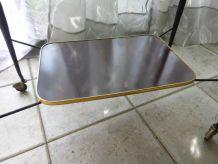 table d'appoint formica à roulettes