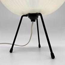 LAMPE TRIPODE MÉTAL PLASTIQUE VINTAGE DESIGN ANNÉES 50 60