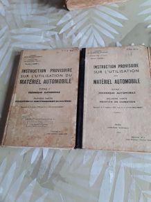 Lot de 3 livres militaire