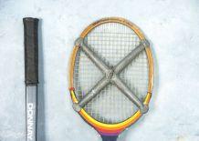 Raquettes tennis bois,  2 serres raquettes, porte raquettes