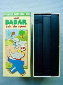 """Coffret de 3 cassettes VHS """"Babar fait du sport"""""""