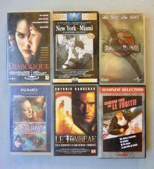 6 cassettes VHS diverses