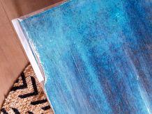 Table basse industrielle bleue