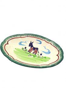 Plat céramique âne culloté Ile de Ré