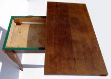 Table à jeu en bois à plateau en portefeuille