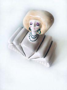 Boite à bijoux vintage en céramique