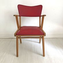 Fauteuil vintage 60's rouge