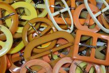 25 boucles de ceinture orange vintage