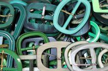 25 boucles verte de ceinture vintage