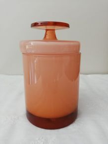 Bonbonnière vintage en verre opalin