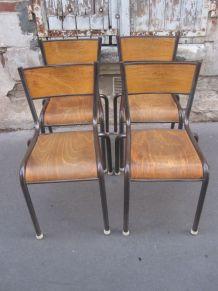 Lot de 4 chaises Mullca Gaston Cavaillon