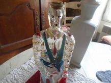 Carafe verre peint Matador