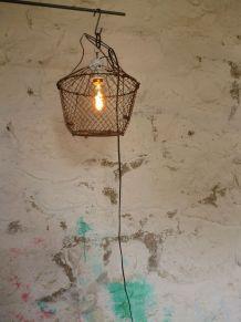 "LAMPE A SUSPENDRE , VINTAGE , "" LA SALADIERE """
