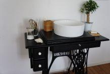 Meuble vasque retro