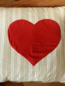 2 superbes coussins cartes à jouer coeur et pique