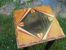 petite table d'appoint ou chevet ART DÉCO relookée