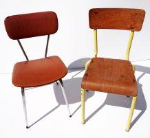 Lot de deux chaises