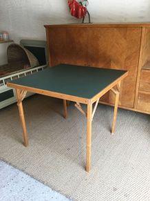 Table de bridge pliante vintage