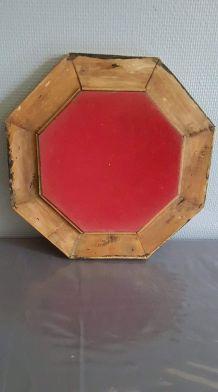 miroir ancien hexagonal très bon état