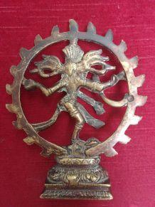 Shiva en bronze doré - XXème siècle - 15 cm de haut