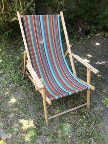 Transat chaise longue chilienne vintage 1960