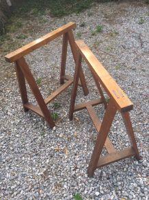 Tréteaux bois vintage