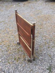 Déserte pliante bois et métal vintage