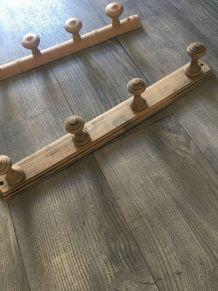 Porte manteaux en bois vintage