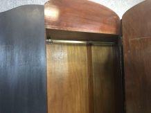 Penderie chippendale noire en acajou - début XXème