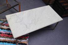Table basse marbre blanc 1950's