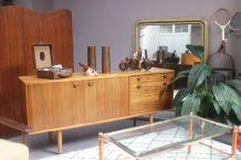 Enfildade vintage scandinave 1960's bois zebrano