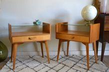 Tables de Chevet Vintage WK Möbel, Set de 2