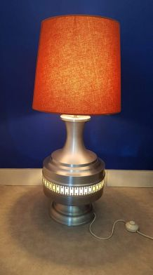 lampe vintage en aluminium brossé double éclairage