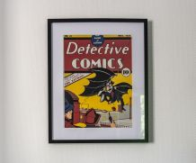 Couverture vintage DETECTIVE COMICS  encadrée