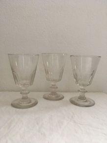 3 authentiques verres bistrot années 70.