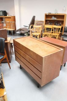 Commode coiffeuse vintage années 50