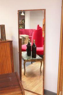 Miroir porte cuivre vintage années 50