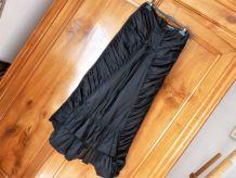 Longue jupe de soirée,  jupe noire, tenue de mariage.