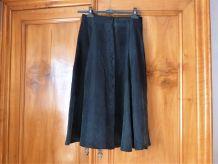 Jupe longue / jupe en soie noire / tenue de soirée.