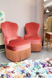 Fauteuil crapaud vintage 1950 TBE