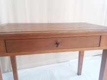 TABLE BUREAU ANCIENNE EN CHENE