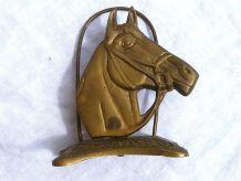 porte courrier tete de cheval en laiton ,vintage